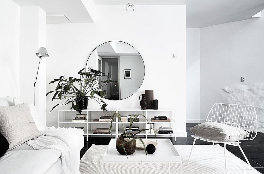 Minimalist Monochrome Interior Look - Living Room