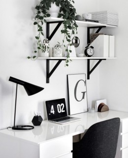 Minimalist Monochrome Interior Look - Home Office